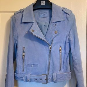 Cornflower Blue Blank NYC Real Suede Jacket - XS